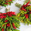 Red and green peppers — Foto Stock