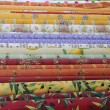 Rolls of Provencal textile — Stock Photo