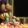 Stok fotoğraf: Stacked fruits