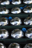 Steel jeu de boule balls — Stock Photo