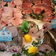 Стоковое фото: Fresh fish at fish market