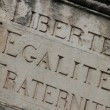 Liberty, equality, fraternity — Stock Photo