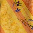 Yellow Provencal fabrics — Stock Photo