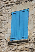 Window with wooden shutters — Photo