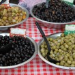Different sorts of olives - Stock Photo