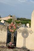 Cast iron cross ornament — Stock Photo