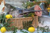 Swordfish at a French market — Stock Photo