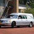 Silver grey hearse - Stock fotografie