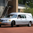 Silver grey hearse — Stock Photo
