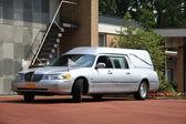 Silver grey hearse — Stock Photo