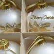 White ornaments Christmas greeting — Photo
