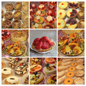 Patisserie-collage — Stockfoto