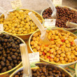 Different sorts of olives — Stock Photo