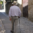 Old man on a French street — Stok fotoğraf