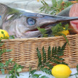 Swordfish at a French market — Stock Photo