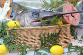 Swordfish at a French market — Foto Stock