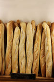 Baguette French bread in a shop — Stock Photo
