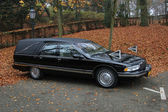 Black hearse — Foto Stock