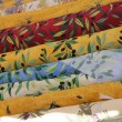 Rolls of Provencal textile - Stock Photo