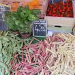 Various beans at a market stall - Foto Stock