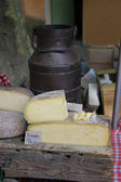 Cheese at a French market — Foto Stock