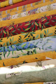 Rolls of Provencal textile — 图库照片