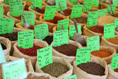 Herbs and spices at a french market — Stock Photo