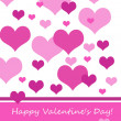 Pink Hearts Valentine — Stock Photo