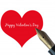 Fountain pen Valentine — Stock Photo