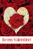 Be my Valentine - Rose heart card — Stock Photo
