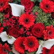 Floral arrangement in red and white - Stockfoto