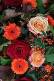 Flower arrangement in autumn colors — Stock Photo