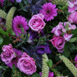 Stock Photo: Floral arrangement in different shades of purple