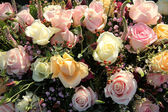 Wedding Flowers: Different shades of pink roses — Stock Photo