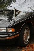 Black hearse, detail — Stock Photo