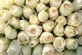 Group of white roses, wedding decorations — Stock Photo