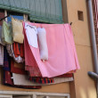 Laundry on a line - Stockfoto