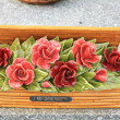 Ceramic sympathy flowers - Stockfoto