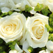 White wedding flowers — Stock Photo #19305875