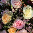Wedding Flowers: Different shades of pink roses — Stockfoto