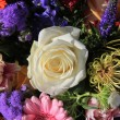 Mixed floral arrangement in bright colors — Photo