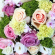 Purple, pink and white wedding centerpiece — 图库照片