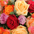 Colorful rose bouquet — Stok fotoğraf