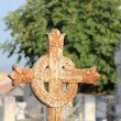 Cast iron cross ornament — Stockfoto
