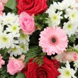 Wedding arrangement in pink and white — Stock Photo #19908087