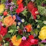 Flower arrangement in bright colors — Stock Photo #20067783