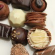 Decorated chocolates — Stock Photo