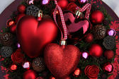 Röd christmas ornament — Stockfoto