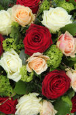 Bridal arrangement in pink, red and white — Stock Photo