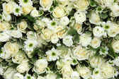 Mixed white wedding arrangement — Stock Photo